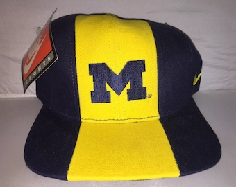 f4171163260 ... official vintage michigan wolverines nike og adjustable hat cap rare  90s deadstock ncaa college football 234bb