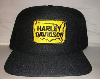 5c29012db70 Vintage Harley Davidson Patch Snapback hat cap 80s MADE IN USA motorcycle  mc hog samcro rare