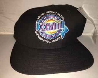Vintage Super Bowl XXVIII Snapback hat cap rare 90s Nwt NEW ERA Nfl  Football Dallas Cowboys a4e38a452