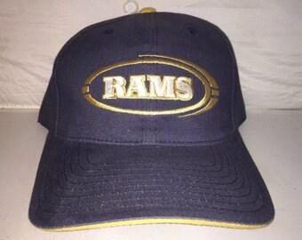 b0af457707f Vintage St. Louis LA Los Angeles Rams Strapback dad hat cap rare 90s nwot deadstock  NFL Football