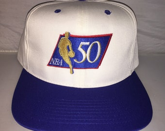 huge discount ea238 a3540 Vintage NBA 50th Anniversary Snapback hat cap rare 90s 50 greatest players  jordan deadstock