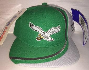 2aefa23c040 Vintage Philadelphia Eagles Reebok Snapback hat cap rare 90s deadstock NWT  NFL Football fowles carson wentz