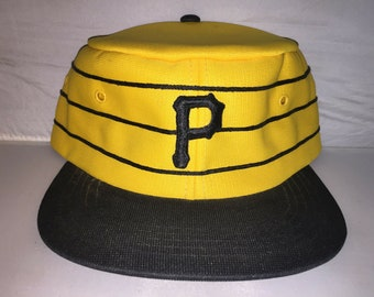3b75b868f49fe Vintage Pittsburgh Pirates Pillbox Snapback hat cap rare 80s Youngan sports  specialties MLB Baseball