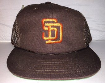 86755a36e Vintage San Diego Padres mesh trucker Snapback hat cap rare 90s deadstock  MLB baseball tony gwynn