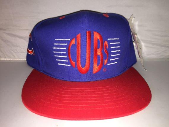 7ccca1ce3db Vintage Chicago Cubs Snapback hat cap 90s MLB baseball