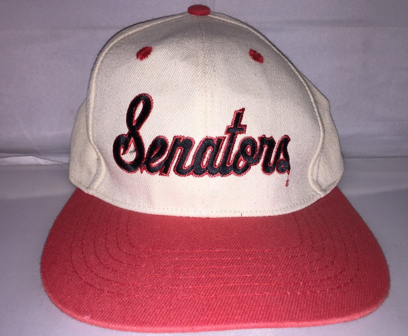 d3a816e92f818 Vintage Harrisburg Senators Snapback hat cap rare 90s MiLB