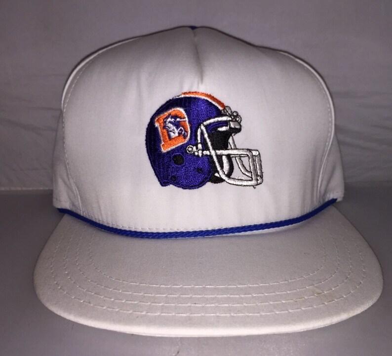 126f779937bc1e Vintage Denver Broncos Snapback hat cap rare 80s NFL Football | Etsy