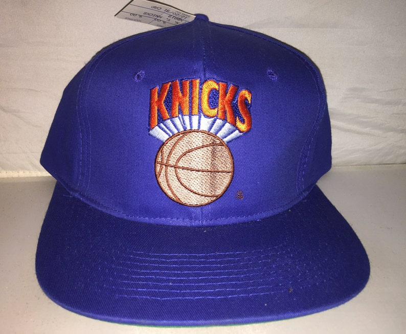 sports shoes e8ae2 da3cd Vintage New York Knicks Snapback hat cap rare 90s nwt NBA   Etsy