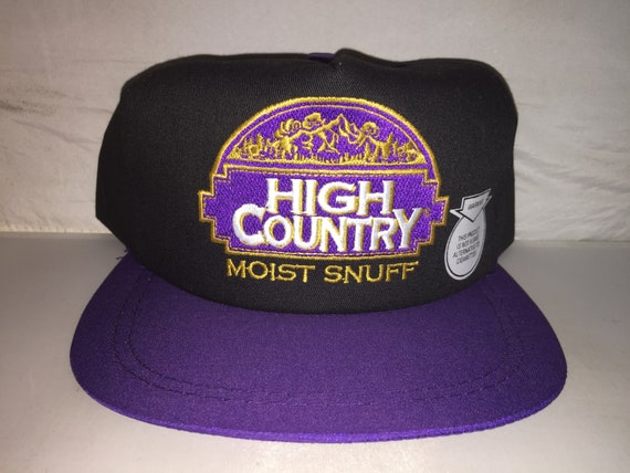 aaee860fb17 Vintage High Country Moist Snuff Chewing Tobacco Snapback hat