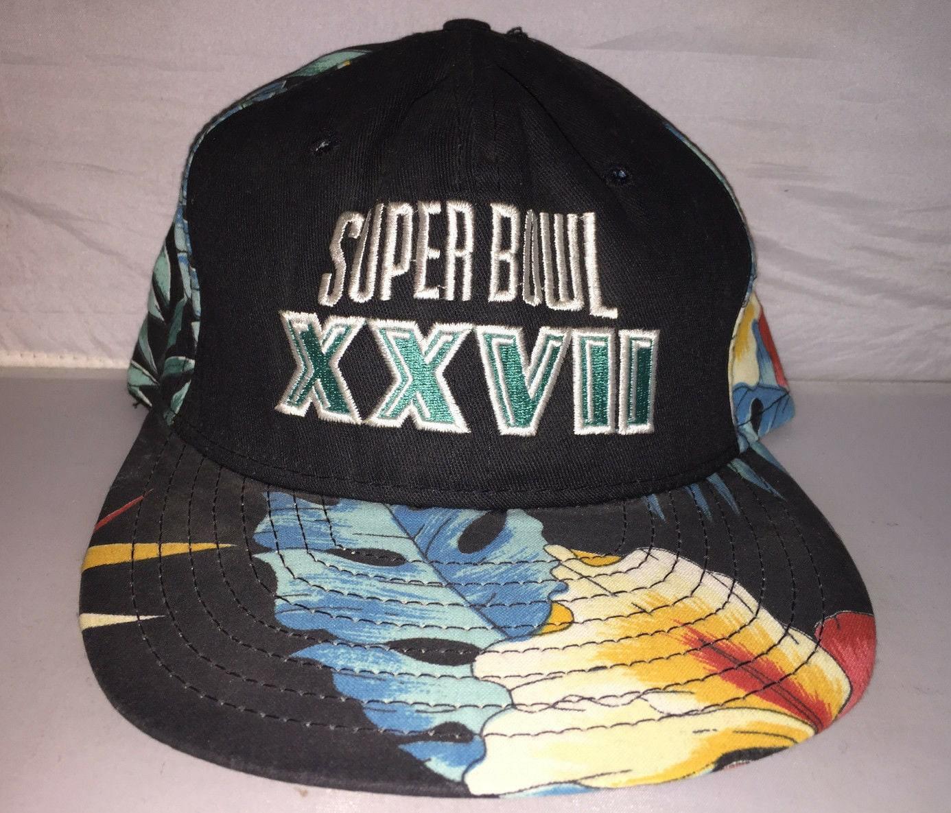 Vintage Super Bowl XXVII Snapback hat cap rare 80s floral  deac40a55
