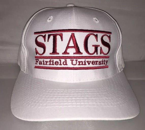 789a8265f7e ... greece vintage fairfield university stags snapback hat cap rare 90s  etsy 2e6fa 60c6a