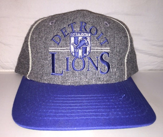 buy online a8bb1 e7abc Vintage Detroit Lions The Game Heather Wool Snapback hat cap rare 90s NFL  football barry sanders