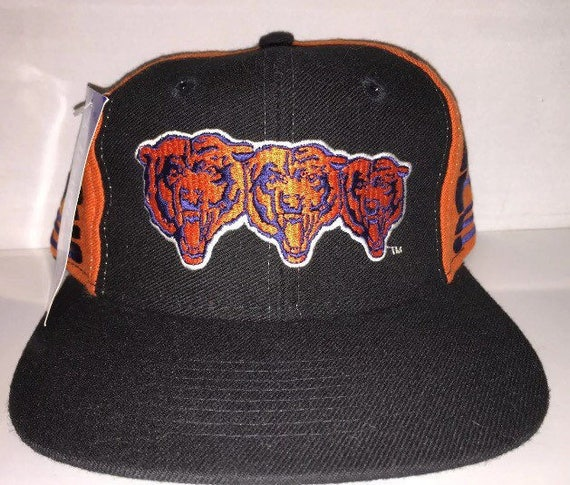 cheap for discount 52263 67385 ... buy vintage chicago bears snapback hat cap rare 90s deadstock nfl etsy  e1495 7fe8f ...