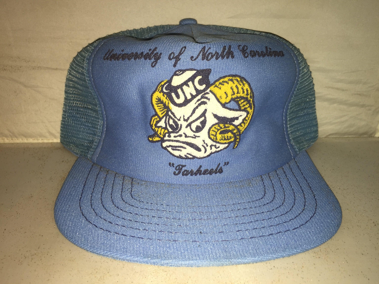 Vintage North Carolina Tarheels 80s trucker hat cap MADE IN  c76f5488b34
