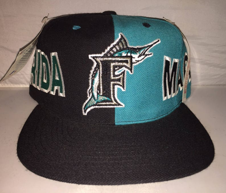 separation shoes de3c6 d391b Vintage Florida Miami Marlins Snapback hat cap rare 90s nwt   Etsy
