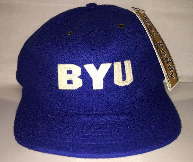 b2627c385aa Vintage BYU Cougars Brigham Young University Strapback hat cap