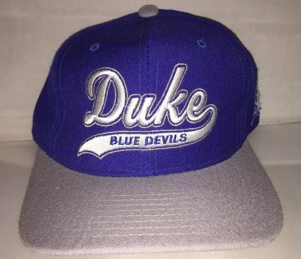 Vintage Duke Blue Devils Snapback hat cap rare 90s NCAA  9f4b949e7737