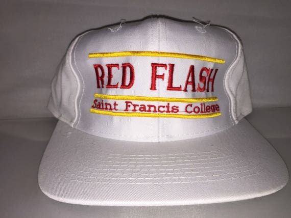 90ce4847c3f Vintage St. Francis Red Flash Snapback hat cap rare 90s The