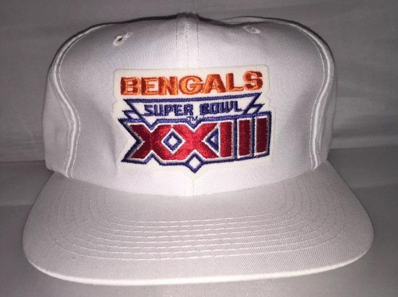 ff0efb08f3f98d Vintage Superbowl XXIII Cincinnati Bengals Snapback hat cap | Etsy