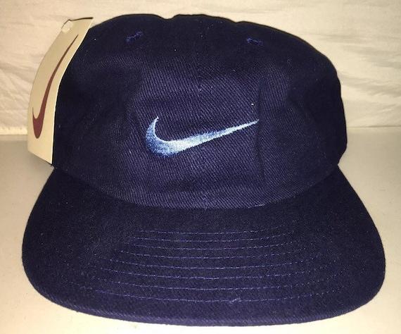Vintage Nike Strapback dad hat cap 90s deadstock rare new  2d721bca153