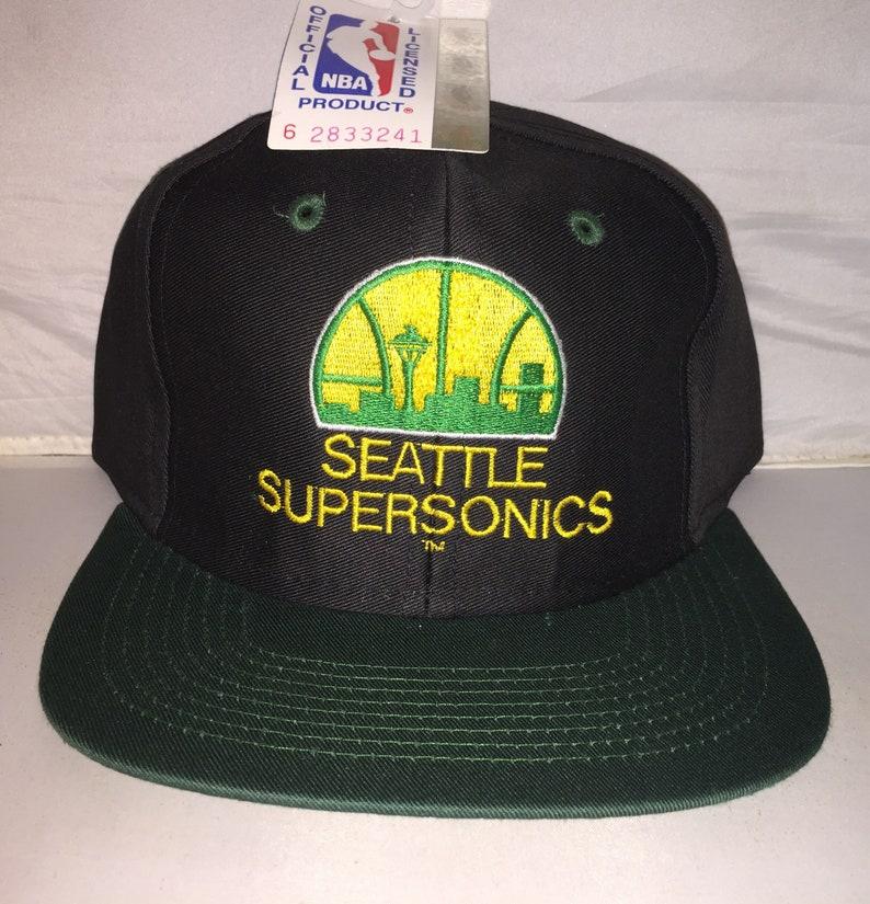 0026fcd1fc0 Vintage Seattle Supersonics Sonics Snapback hat cap rare 90s