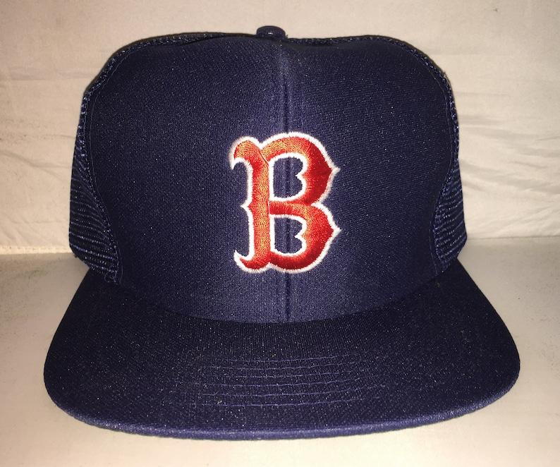 Vintage Boston Red Sox Snapback hat cap rare 80s MLB Baseball  19e54f495a36
