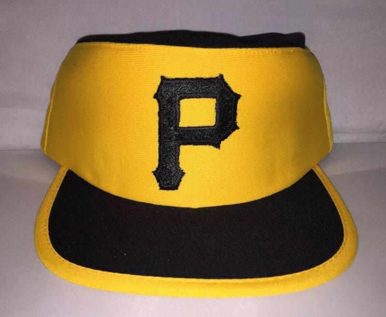 reputable site 6d7d0 6e282 Vintage Pittsburgh Pirates Pillbox Snapback hat cap rare   Etsy