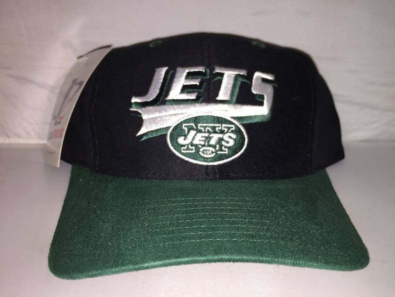 b0bc3d39328 Vintage New York Jets Logo Athletic Snapback hat cap rare 90s