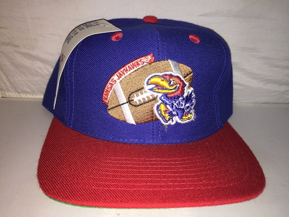 best website b66d1 c58b2 ... free shipping vintage kansas jayhawks snapback hat cap ncaa college  football etsy b0704 10a06