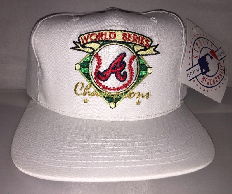 Vintage 1995 Atlanta Braves Snapback hat cap rare 90s  e723e4df0bf
