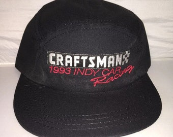 Vintage Craftsman Racing Indy car 90s 5 panel Snapback hat cap deadstock supreme rare made in usa