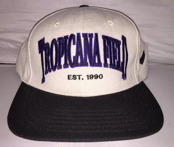 e1d69d6a099 Vintage Tropicana Field Tampa Bay Devil Rays Snapback hat cap