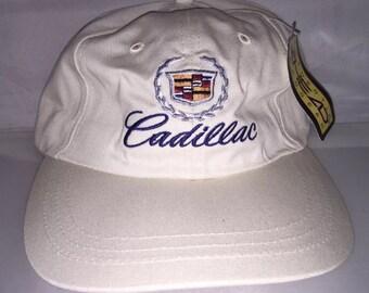 Vintage Cadillac Strapback hat dad cap rare 90s car deadstock car hip hop rap luxury