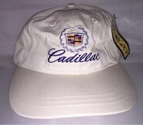 Vintage Cadillac Strapback hat dad cap rare 90s car deadstock car hip hop  rap luxury 88999eeea053