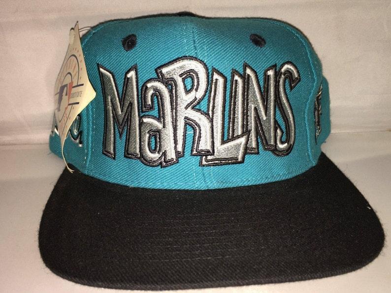 Vintage Florida Miami Marlins Snapback hat cap rare 90s nwt  ec50d9b65ec4