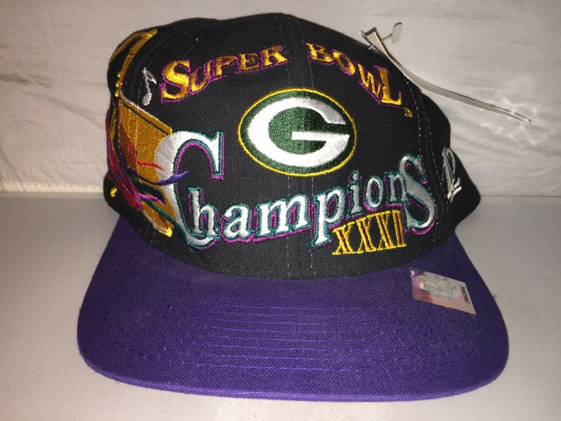 2072558a Vintage Green Bay Packers Super Bowl Champions XXXI Snapback | Etsy