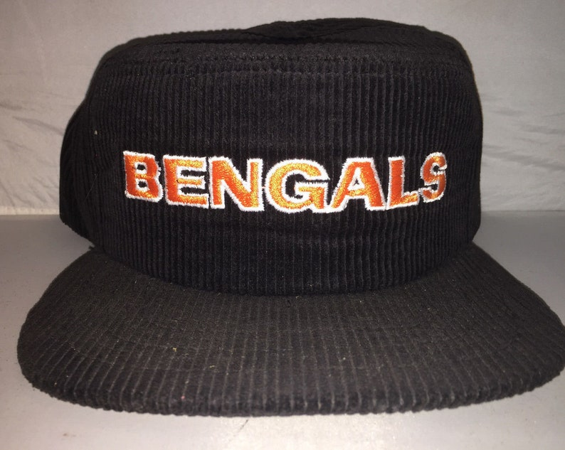 4eb44ed0 Vintage Cincinnati Bengals Snapback hat cap rare 90s deadstock nwt NFL  Corduroy NEW ERA pillbox football