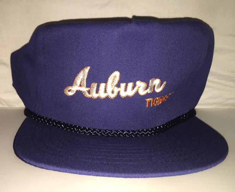 a65b4035f5286 Vintage Auburn Tigers Strapback hat cap NCAA College deadstock