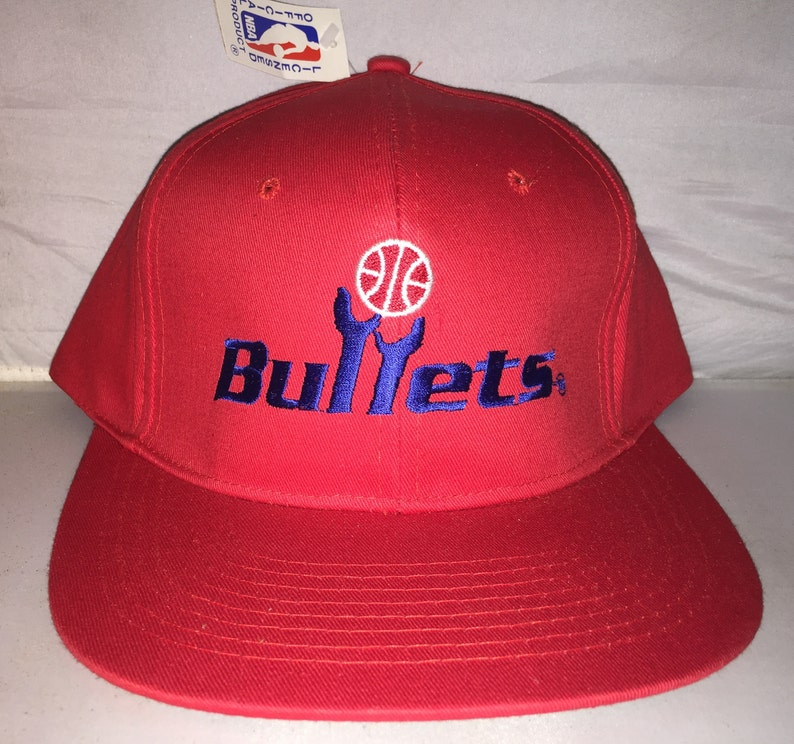 low priced 0aa26 80ec9 Vintage Washington Bullets Snapback hat cap rare 90s NBA   Etsy