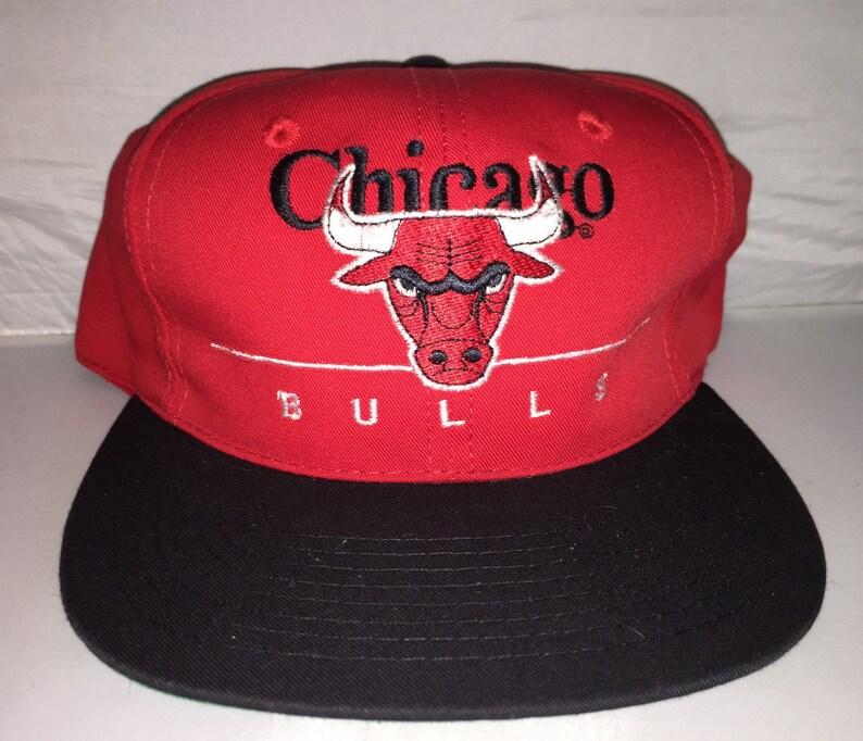 92fea85702faac Vintage Chicago Bulls Snapback hat cap rare 90s NBA jordan