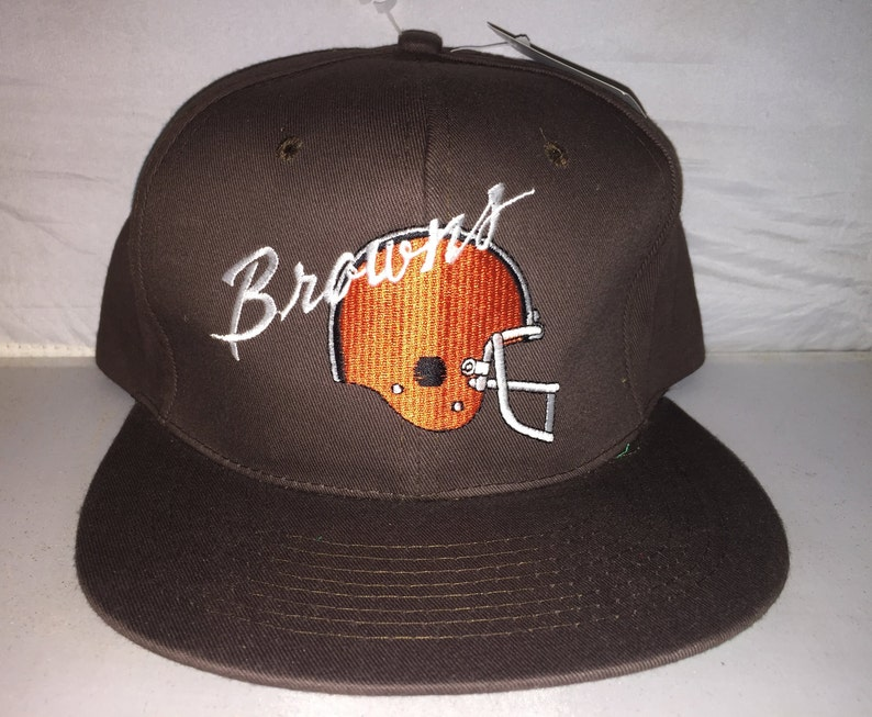 premium selection 5ef8f e874c Vintage Cleveland Browns Snapback hat cap rare 90s deadstock   Etsy