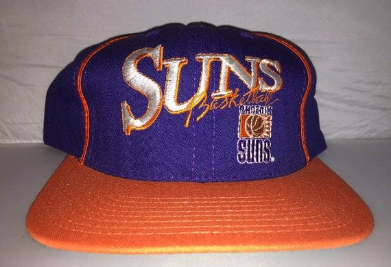 546718b7a Vintage Phoenix Suns snapback hat cap nba basketball 90s nwt deadstock  charles barkley Booker MADE IN USA