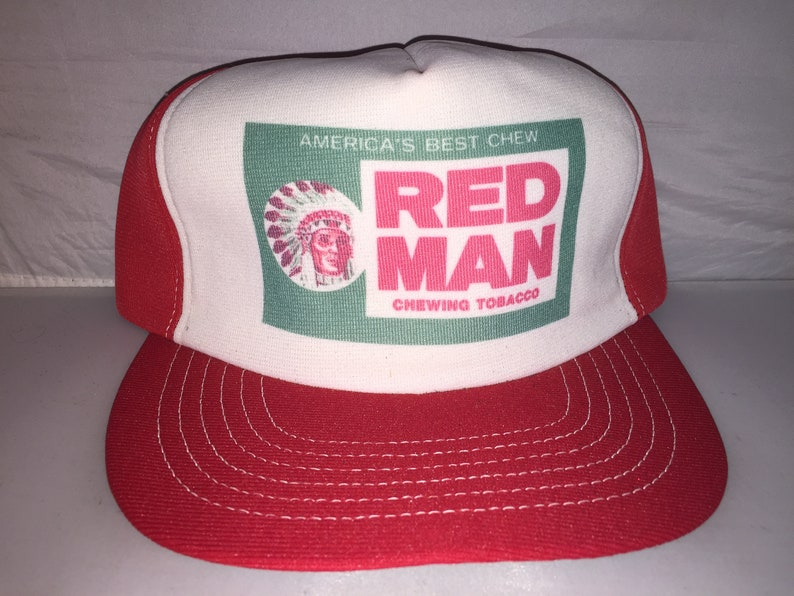 b829e60111f Vintage Red Man Redman Chewing Tobacco Snapback hat cap 80s