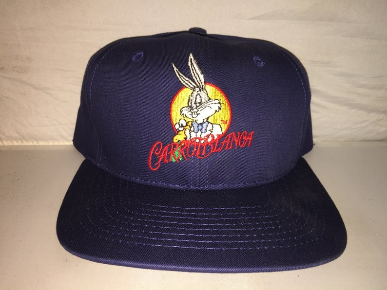 ab79f17a7782 Vintage Carrotblanca Bugs Bunny Looney Tunes Snapback hat cap