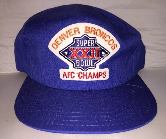 Vintage Denver Broncos Super bowl XXII Snapback hat john elway  6fe79b52a