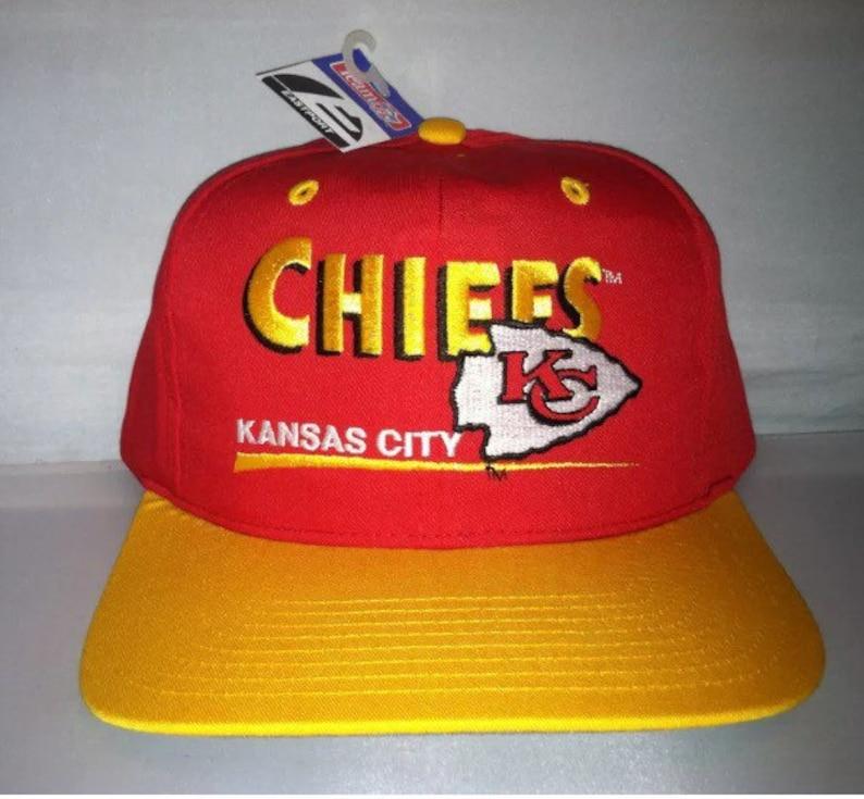 7519e87086880 Vintage Kansas City Chiefs Snapback hat cap rare 90s NFL