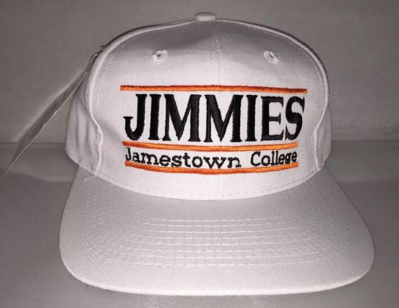 e30e46b339b Vintage Jamestown University Jimmies Snapback hat cap rare 90s