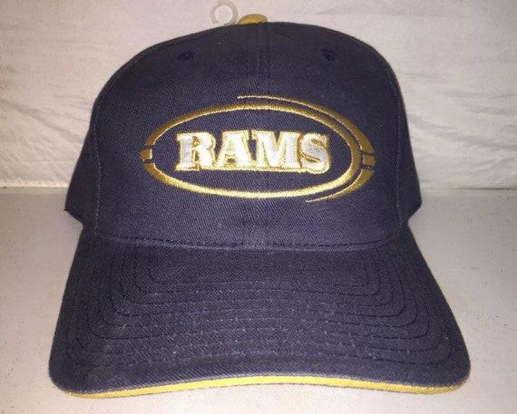 3c9767fc Vintage St. Louis LA Los Angeles Rams Strapback dad hat cap rare 90s nwot  deadstock NFL Football
