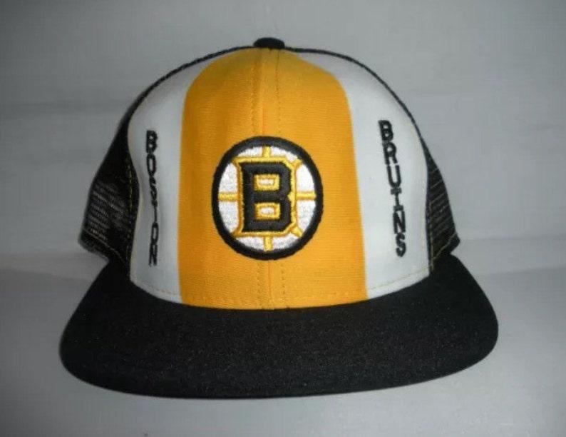 9e0c8fc49ab Vintage Boston Bruins Snapback mesh trucker cap hat NHL Hockey