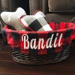 Custom Toy Basket | Plaid Dog Basket | Dog Toys | Pet Toy Basket|  Pet Storage | Cat Toy Basket | Dog Bedding | Dog toys | Christmas Gift